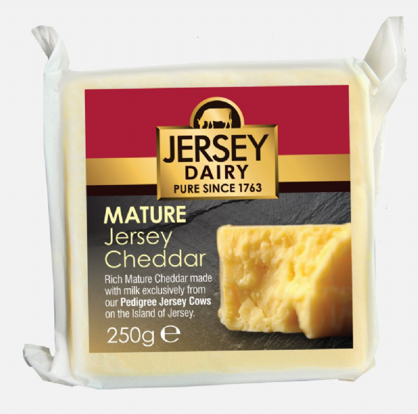 Jersey Dairy Mature Cheddar Cheese 250g